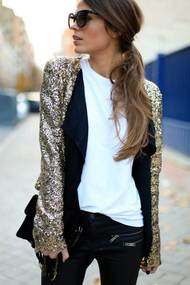 New years eve style fashion blogger street style gold sequined blazer 600x899