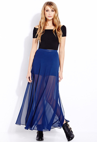 Forever 21 blue must have m slit maxi skirt product 1 16406958 1 630094633 normal
