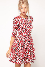 Asos skater dress with kiss print profile