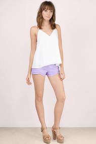 Lavender once again scalloped shorts 2x 3
