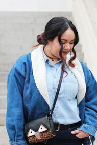 Denim total look mezclilla summer overdose levis vintage esprit bow chile blogger mexicana plus size chocker