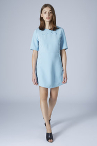 Topshop blue scallop trim shift dress product 1 23518099 4 301542902 normal